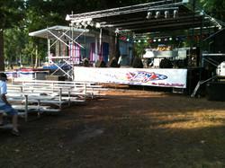 All Star Music stage, sound, lights