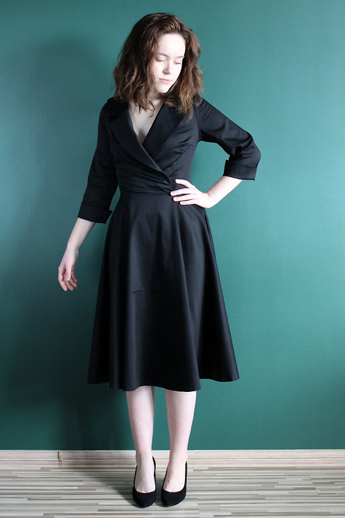 Sukienka Galanta Midi: Klasyczna Czerń