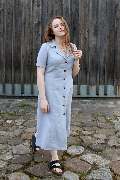 Sukienka z guzikami z kokosa Klapitka: Bałtyckie Powietrze