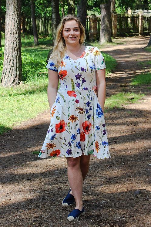 Sukienka Migawka Mini: wzór Ojczyste Kwiaty