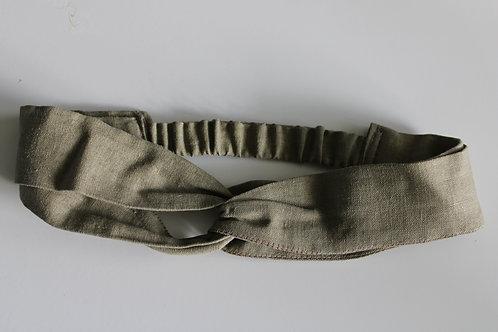 Krajka - turban Saska Zieleń (len z wiskozą)
