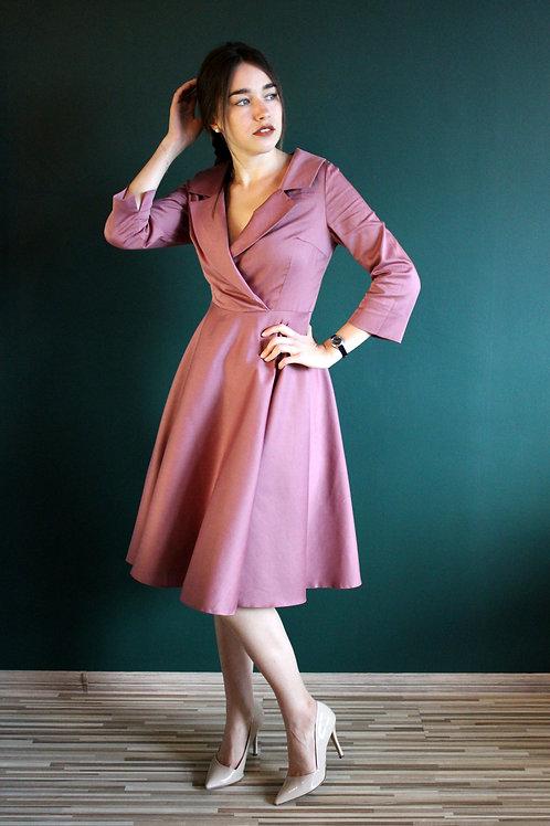 Sukienka Galanta Midi: Leśny Wrzos