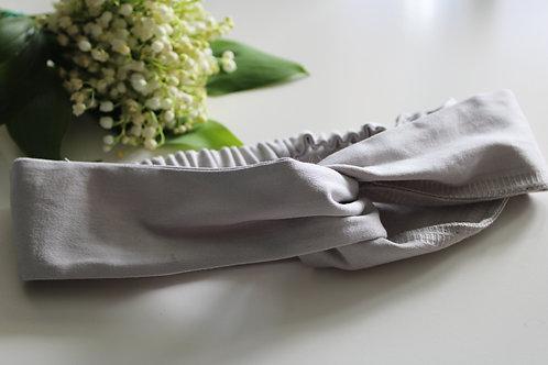Krajka - turban Srebrzysty Brzask (bawełna satynowa)