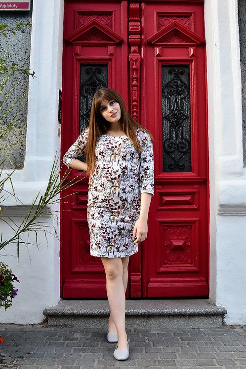 Sukienka z dekoltem w caro Angielka