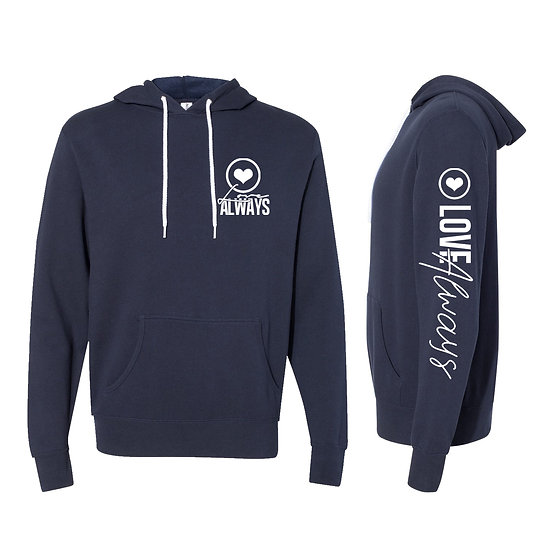 LOVE ALWAYS HOODIE (NAVY)