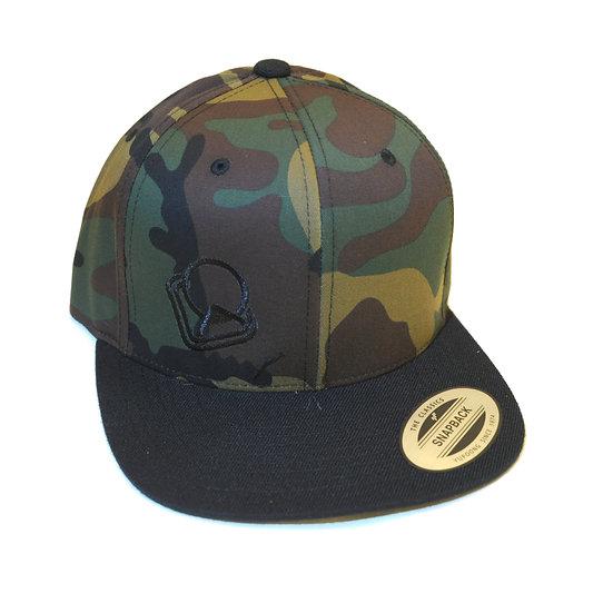 Snapback-Cap camo Logo