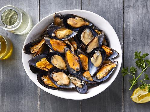 Half Shell Mediterranean Mussels - Frozen