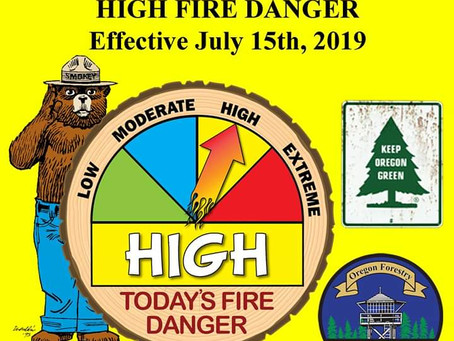 """Fire Danger increases to """"High"""""""