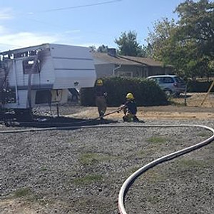 Camp Trailer Fire 434 Locust St.
