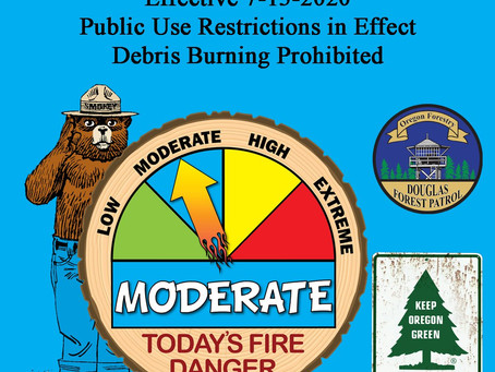 Fire Danger Increases to Moderate Effective Immediately