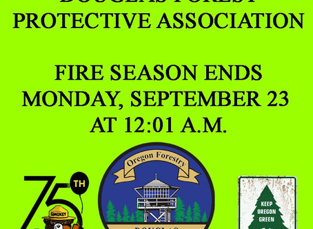 2019 Fire Season Comes to an End