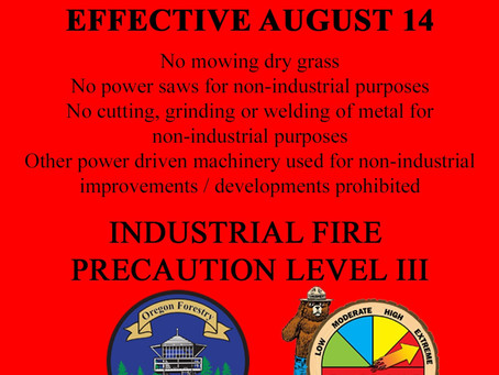 Fire Danger Increase Friday, August 14 - Extreme Fire Danger