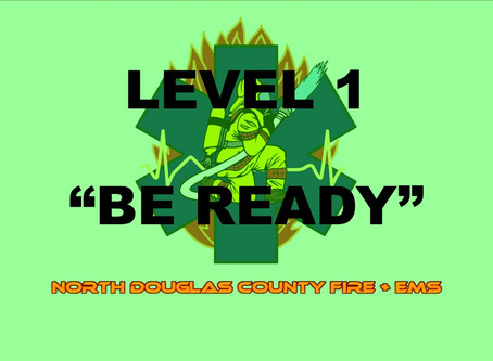 "Douglas County Sheriff's Office placed ALL Douglas county residents on a Level 1 ""Be Ready"" status."