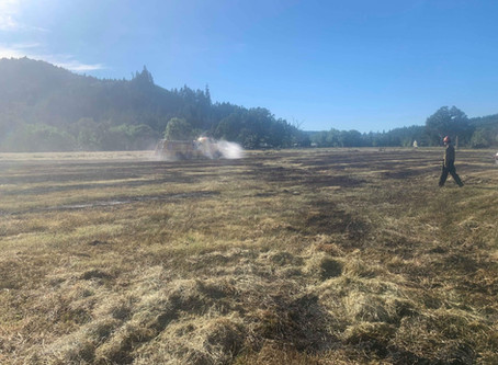 Tractor Fire Leads to Grass Fire