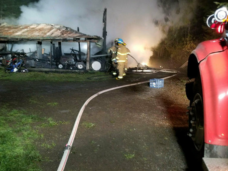 Barn Fire Hayhurst Rd. Yoncalla