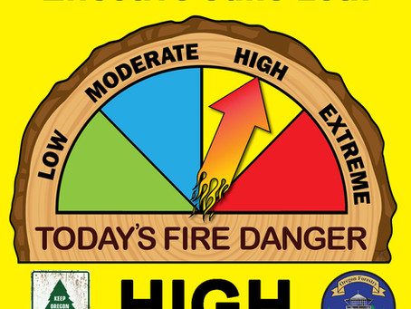 DFPA Increases Fire Danger to High