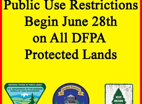 Public Use Restrictions Begin June 28th