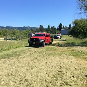 Lawn Mower Fire Yoncalla City Park