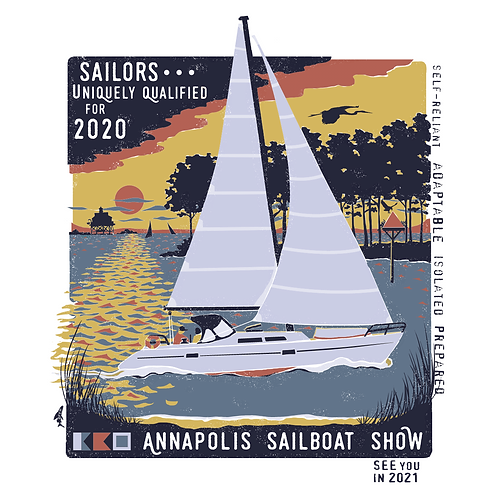 2020 Sailboat Show Short Sleeve Tee