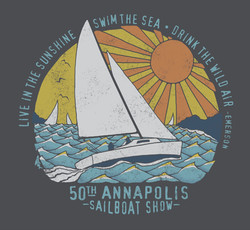 Emerson Quote Sail Tee