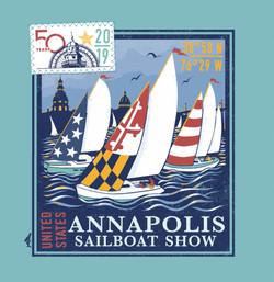 50th Sail Back Print