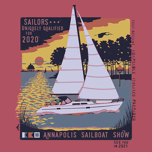 2020 Sailboat Show Short Sleeve Garment Dye