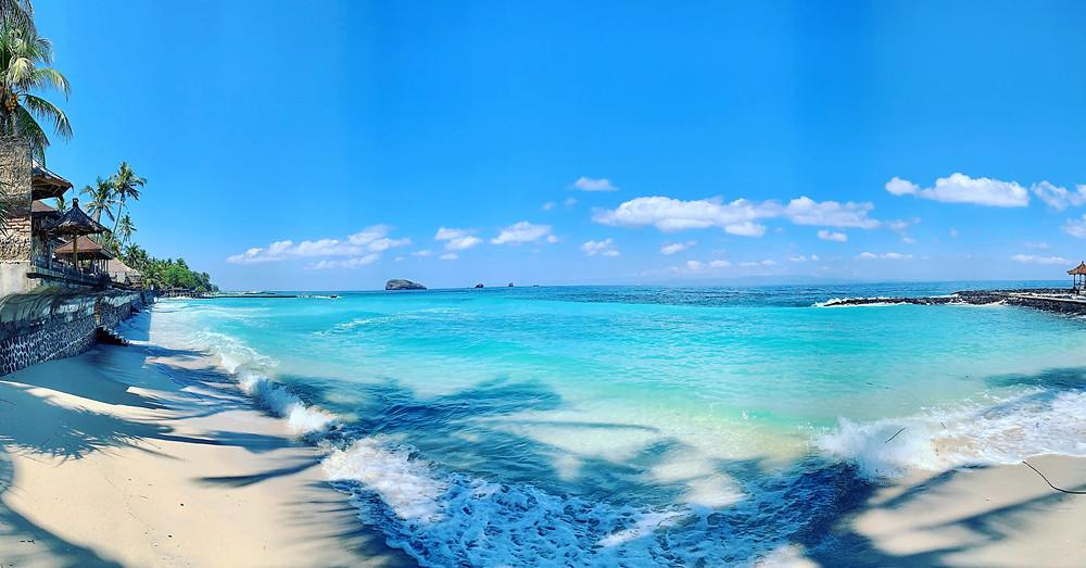 Candidasa Black sand Beach