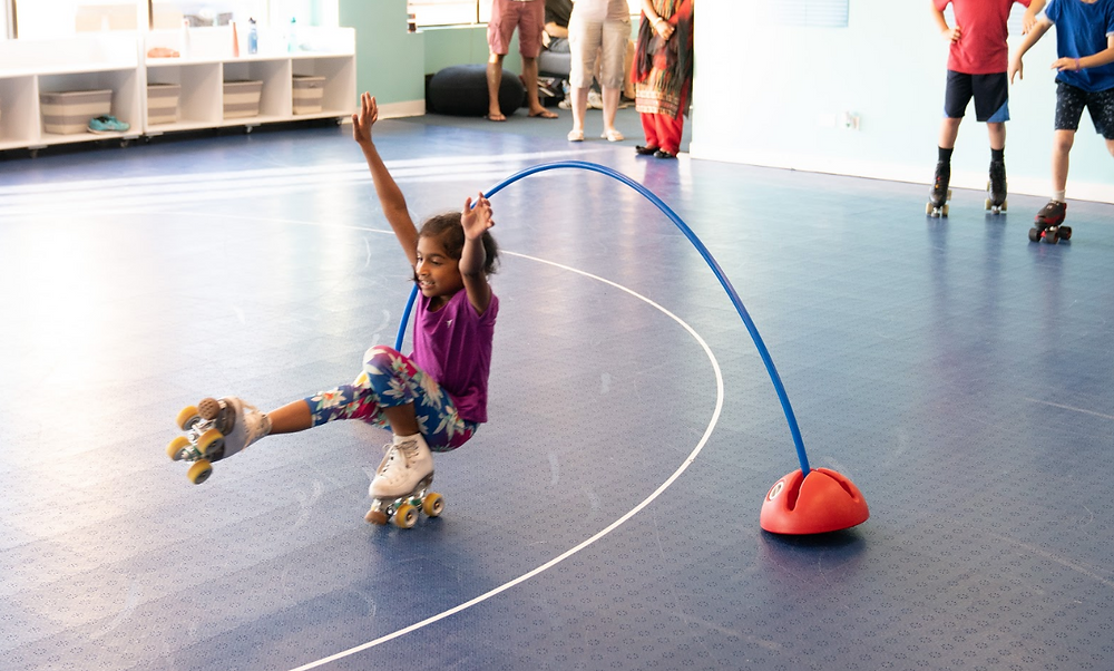 RollerSkating Classes, an easy way to promote a healthy heart, communication skills, and perseverance!