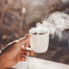 Der erste Kaffee am Morgen ...