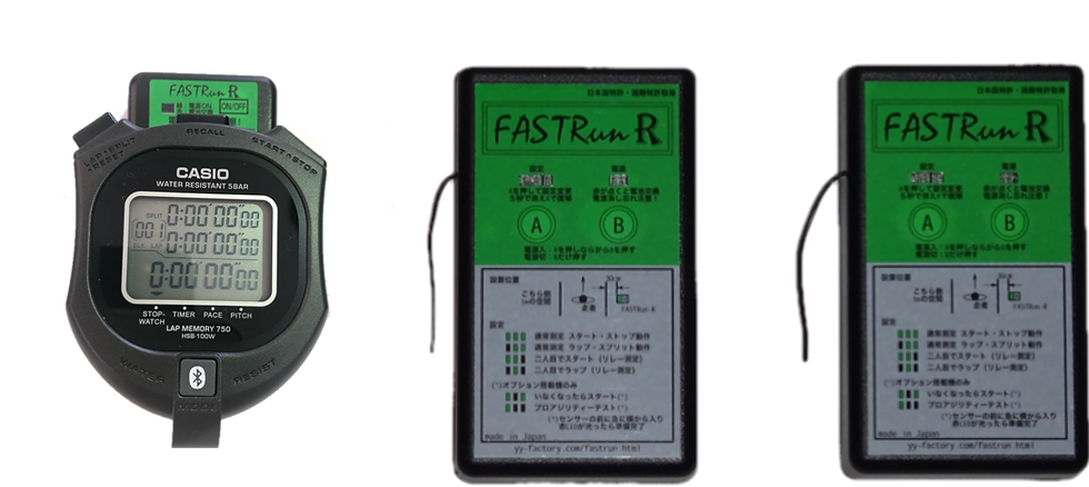 セットB(自主的にスタートするスプリント走測定及び区間タイム測定(加速走))