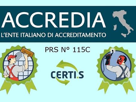 Certi.s è organismo accreditato per la certificazione del personale!