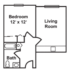 Claremont Retirement Village Memory Care Floorplan