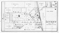 Historical Map of Luckey