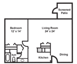 Claremont Retirement Village Indepedent Living Floorplan