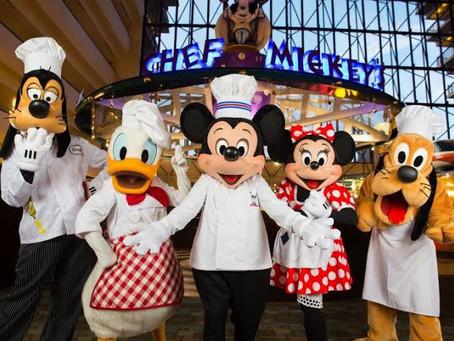 Guia de reservas dos restaurantes da Disney