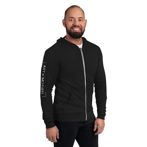 Art In Motion Arm Design Unisex Lightweight zip hoodie