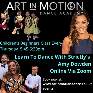 Learn To Dance With Strictly's Amy Dowde