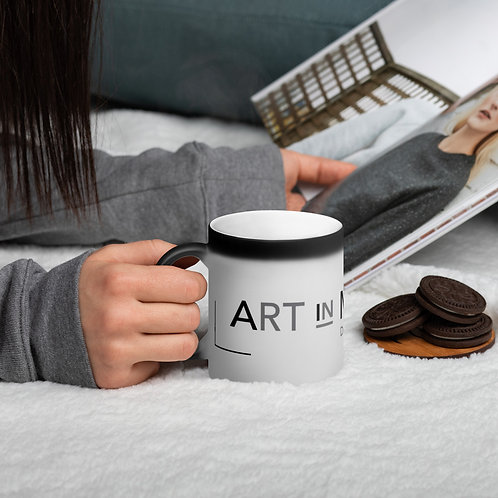 Art In Motion Matte Black Magic Mug