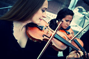 professional violinists play for wedding ceremony in Aspen ,CO