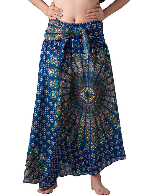 BS004 Maxi Skirt Peacock Blue