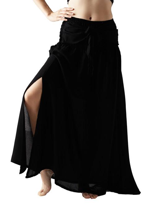 7e2776f32f Long Maxi Skirt Party Dress Bow Tie Waist Black