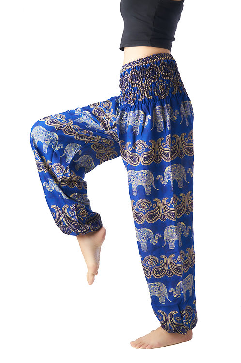 BP029 Long Pants Elephant Dark Blue