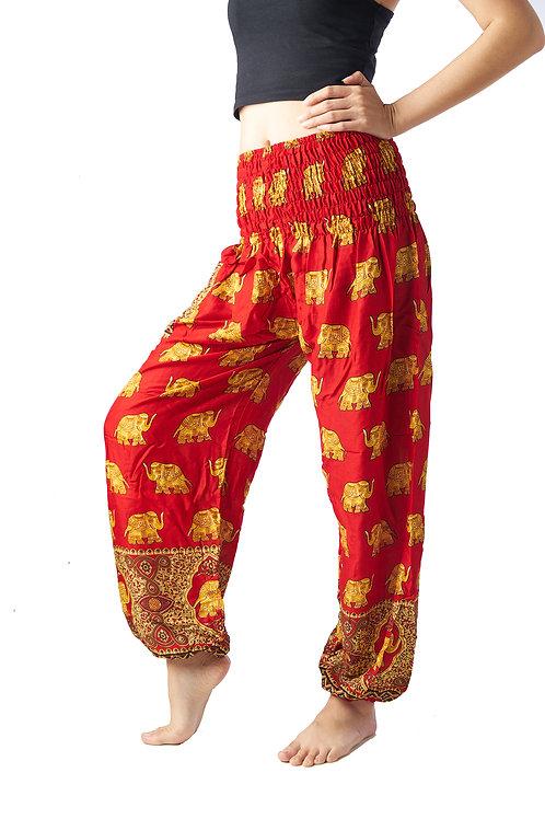 BP027 Long Pants Elephant Red