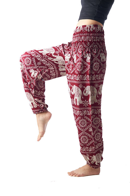 BP021 Long Pants Elephant Red