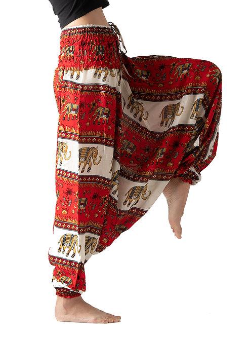 BHP030 Harem Pants Elephant Red