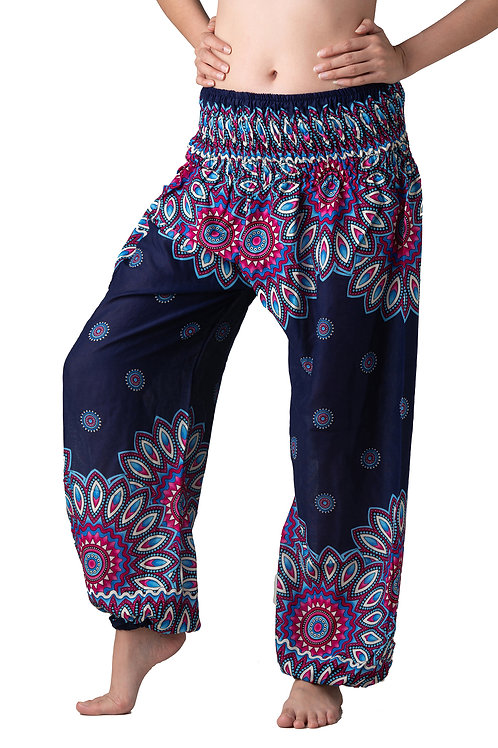 BP006 Long Pants Flower Purple