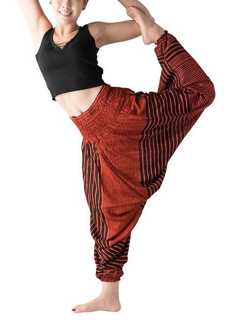 BHP002 Harem Pants Orange Stripe