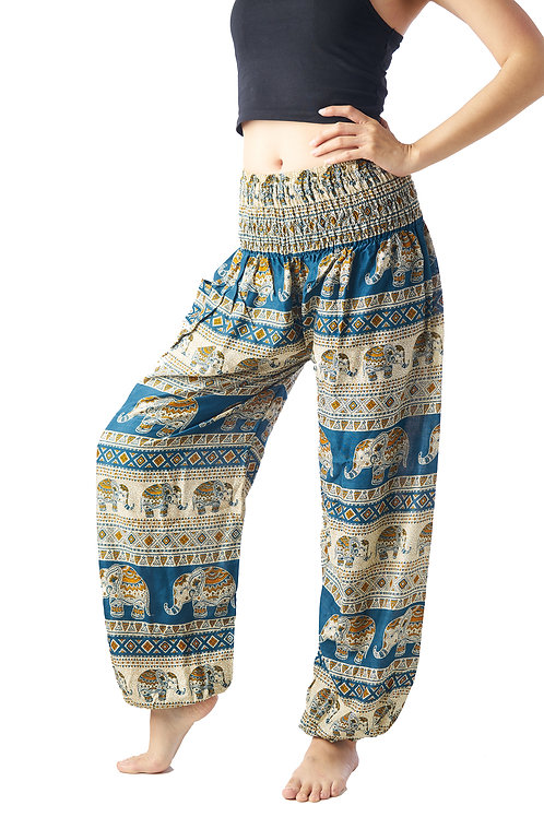 BP012 Long Pants Elephant Blue