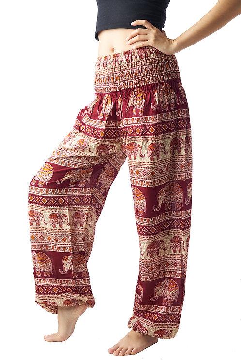 BP013 Long Pants Elephant Red
