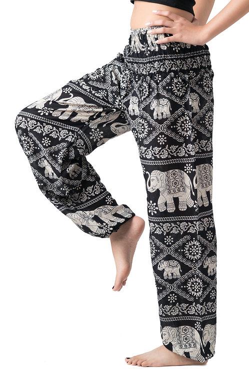BP023 Long Pants Elephant Black